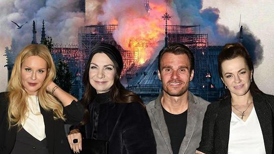 Celebrity jsou šokované ničivým požárem slavné katedrály.