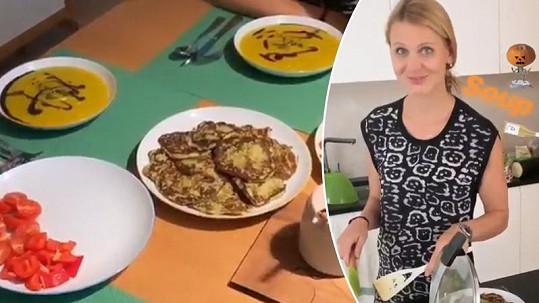 Lucie Šafářová připravila pro Tomáše Plekance večeři i vydatnou snídani.