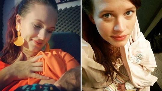 Kristýna Leichtová se pochlubila intimní chvilkou s miminkem.