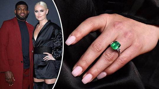 Lindsey Vonn a její zásnubní prsten