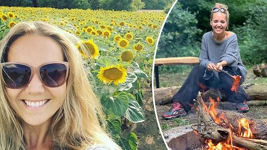 Lucie Vondráčková si užívá léto.