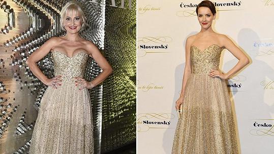 Bára Nesvadbová a Gabriela Lašková vsadily na stejný model.