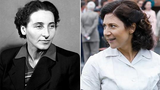 Martha Issová (vpravo) ztvární v novém filmu Danu Zátopkovou