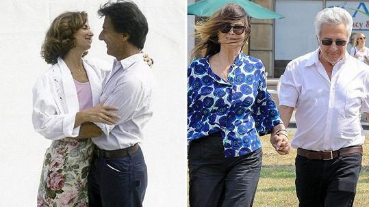 Dustin Hoffman s manželkou Lisou po 32 letech