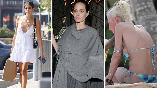 Tyto celebrity kritizují za to, že jsou až příliš hubené.