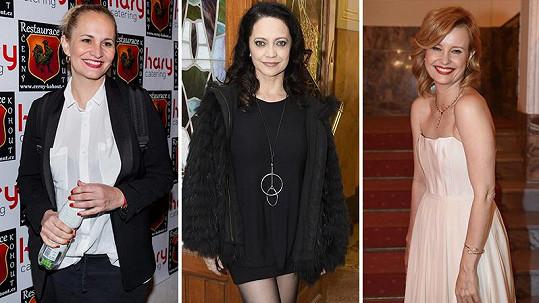 Monika Absolonová, Lucie Bílá a Jitka Schneiderová chodí většinou nalíčené jen na společenské akce.