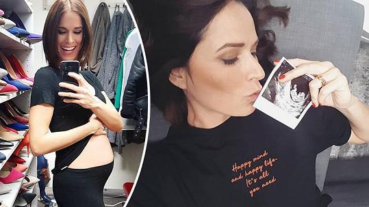 Iveta Kořínková začala sedmý měsíc těhotenství.
