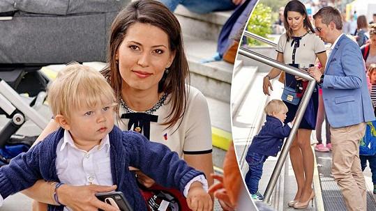 Jana Marečková vzala syna Bruna na Den otevřených dveří České televize.