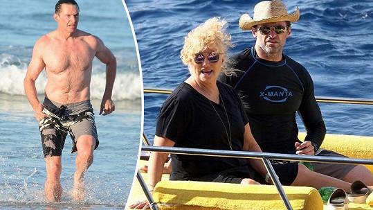 Hugh Jackman se tentokrát obešel bez manželky.