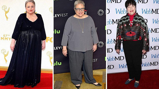 Kathy Bates je o 27 kilogramů lehčí.
