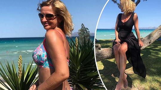 Terezie si užívá na dovolené ve Španělsku.