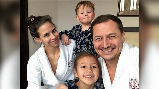 Vojtěch Bernatský s rodinou