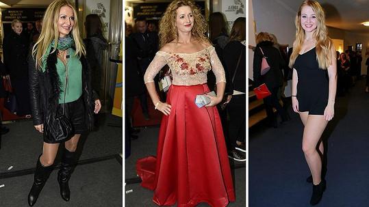 Takhle se dámy oblékly na premiéru Trháku.