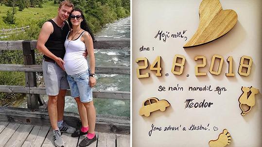 Markéta Procházková porodila syna.