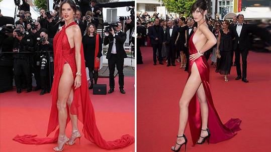 Alessandra Ambrosio oblékla šaty s podobným rozparkem jako Bella Hadid.
