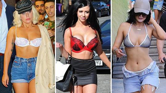 Která ze známých dam chodí do společnosti bez podprsenky?