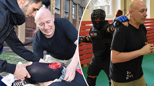 Robert absolvoval kurz sebeobrany a první pomoci.