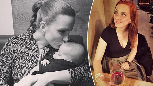 Michaela Maurerová si během mateřské najde čas jen pro svého partnera.