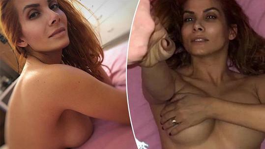 Eva se nechala fotit v posteli nahá.