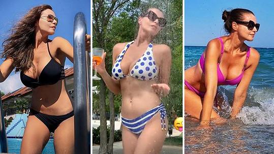 Iva Kubelková v plavkách