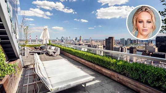 Jennifer Lawrence prodala luxusní byt v New Yorku.