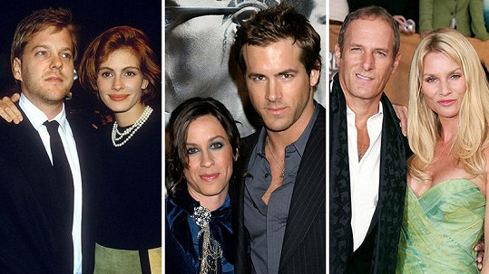 Julia Roberts a Kiefer Sutherland, Alanis Morissette a Ryan Reynolds, Nicollette Sheridan a Michael Bolton