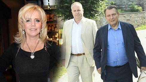 Bývalý premiér Jiří Paroubek se přijel rozloučit s Hankou Krampolovou.