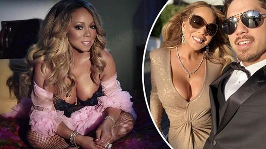 Mariah Carey se prsí ostošest.