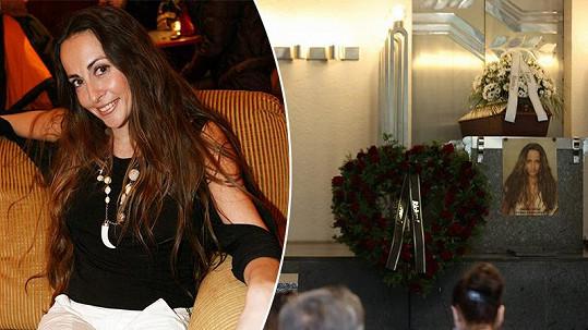 Rodina a kolegové přišli naposledy uctít památku krásné herečky.