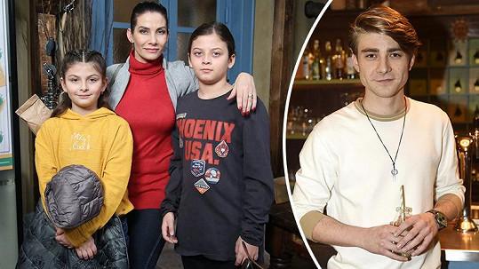 Eva Decastelo musí otestovat i své děti, které v seriálu hrají.