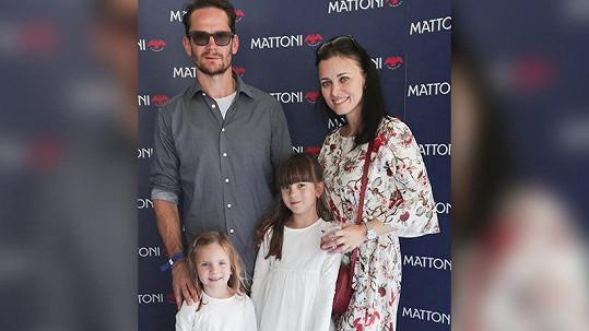 Patrik Eliáš s rodinou