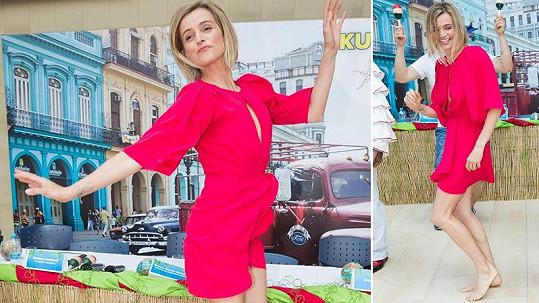 Ivana Jirešová na tiskovce předvedla vášnivý taneček.