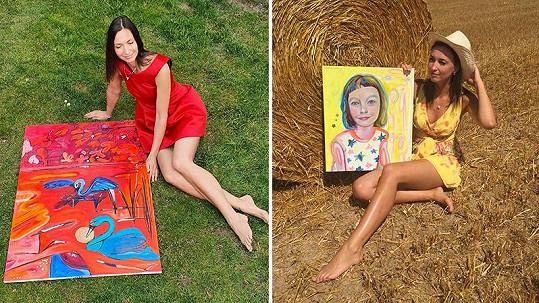 Lucie Gelemová se svými uměleckými výtvory
