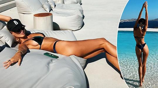 Michaela Kociánová na dovolené na Mykonosu.