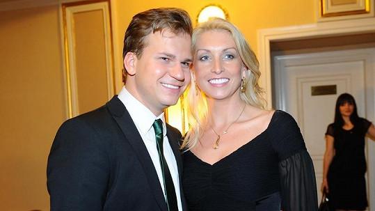 Martin Chodúr s přítelkyní