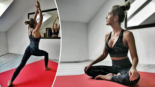 Dara Rolins předvedla, jak doma cvičí.