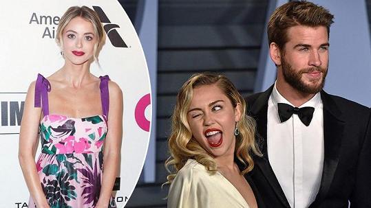 Miley Cyrus a Liam Hemsworth se po 7 měsících manželství rozešli. Zpěvačka teď tráví čas s blogerkou Kaitlynn (vlevo).