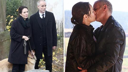 Lukáš Vaculík a Tereza Kostková se opět sešli na natáčení seriálu Temný kraj.