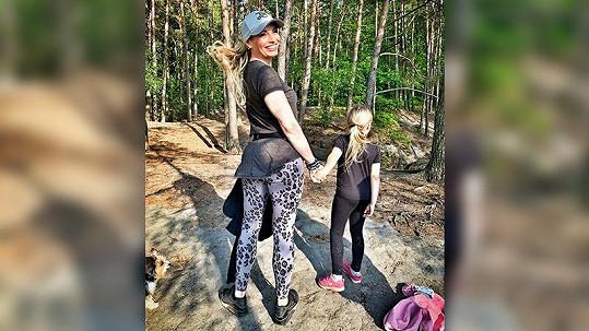 Na výletě s dcerou Lindou.