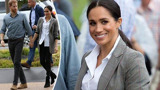 Meghan v Austrálii oblékla sáko z dílny Sereny.