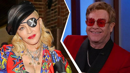 Madonna a Elton John