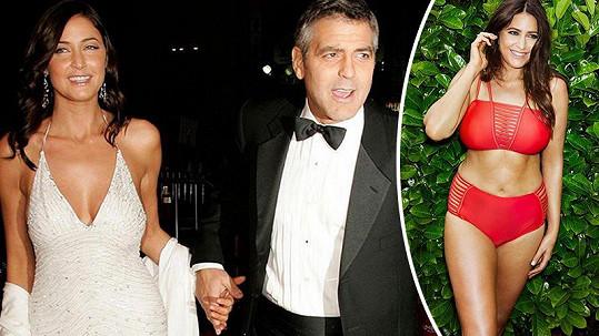 Lisa Snowdon v době, kdy randila s Georgem Clooneym a dnes