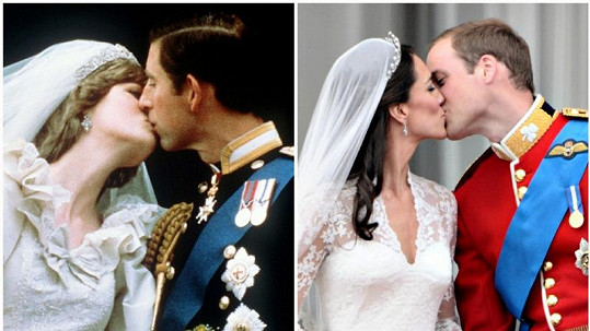 Kate zavřela při polibku, což je podle psychologů dobré znamení. Diana je jen přivřela.
