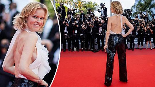 Supermodelka na premiéře filmu Everything Went Fine v Cannes