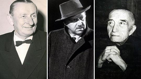 Vlasta Burian, Hugo Haas a Oldřich Nový