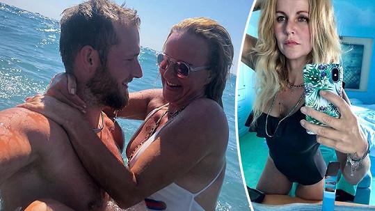 Vendula Pizingerová si užívá dovolenou s manželem Pepou.