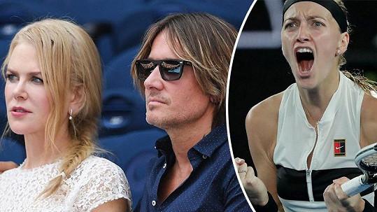 Nicole Kidman a Keith Urban sledovali cestu Petry Kvitové do finále Australian Open.