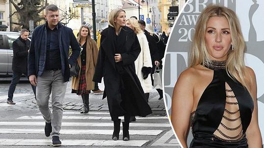 Zpěvačka Ellie Goulding navštívila Prahu.