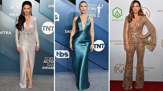 Ani letos na udílení SAG Awards slavné dámy nezklamaly.
