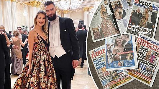 Jitka Nováčková s přítelem opanovali titulky finského tisku.